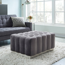 Load image into Gallery viewer, Magnum Ottoman Grey/Silver