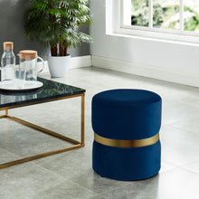 Load image into Gallery viewer, Violet Ottoman Blue/Gold