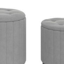 Load image into Gallery viewer, Tobi 3pc Storage Ottoman Set - Grey & Black
