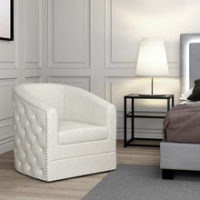 Load image into Gallery viewer, Velci Accent Chair Ivory