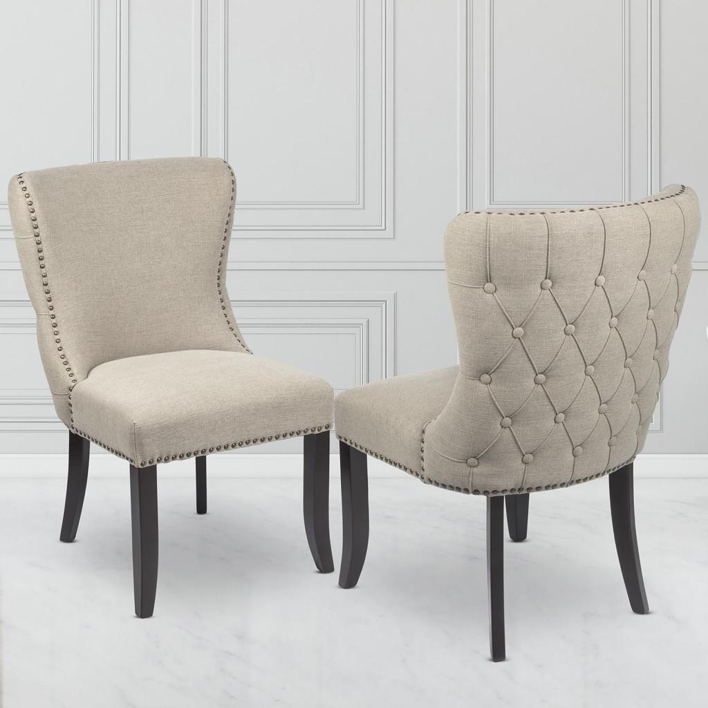 Sophia Dining Chair Beige Linen