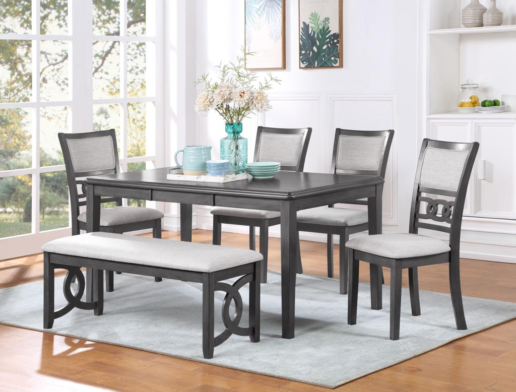 Gia Rectangular Dining Set - Grey