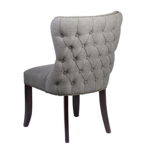 Sophia Dining Chair Grey Linen