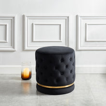 Load image into Gallery viewer, Delilah Ottoman Black/Gold