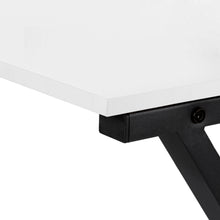 "Load image into Gallery viewer, COMPUTER DESK - 55""L / WHITE TOP / BLACK METAL CORNER"