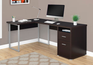 "COMPUTER DESK - 80""L / ESPRESSO LEFT OR RIGHT FACING"