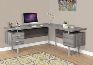 "COMPUTER DESK - 70""L / DARK TAUPE LEFT OR RIGHT FACING"