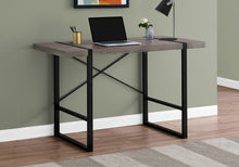 "Load image into Gallery viewer, COMPUTER DESK - 48""L / DARK TAUPE / BLACK METAL"