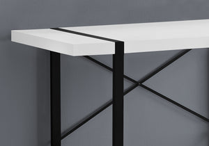 "COMPUTER DESK - 48""L / WHITE / BLACK METAL"