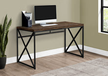 "Load image into Gallery viewer, COMPUTER DESK - 48""L / BROWN RECLAIMED WOOD / BLACK METAL"