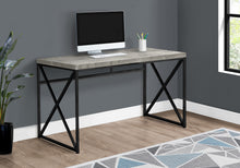 "Load image into Gallery viewer, COMPUTER DESK - 48""L / GREY RECLAIMED WOOD / BLACK METAL"