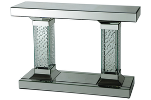 Pillar Mirror Console Table