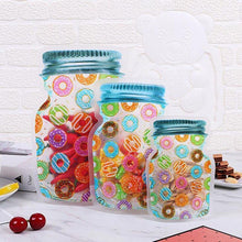 Load image into Gallery viewer, Reusable Ziplock Jars donuts design