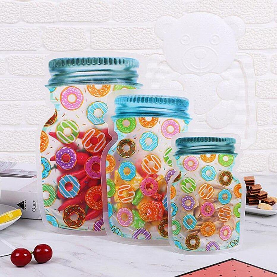 Reusable Ziplock Jars donuts design