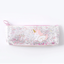 Load image into Gallery viewer, Unicorn Pencil case with Glitter - Safelyfe  #karachi #lahoregram #lahoreweddings #islamabad #karachites  #karachifashion #islamabadgram #faisalabad #multan #pakistanzindabad #pakistan #smog #pakistanfashion #facemaskpakistan