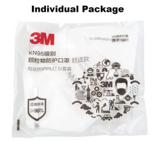 Load image into Gallery viewer, 3M KN95 9501V individually packed. - Safelyfe  Face mask chain pakistan ppe 3m dany fashion meltblown daraz davago south city aku kids stationery blanket