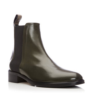 Dellie - Olive Leather