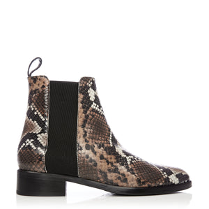 Dellie - Snakeprint Leather