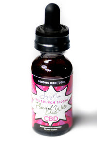 """Fruit Punch"" 1000MG  CBD Flavored Water Enhancer"
