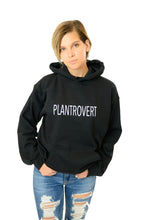 "Load image into Gallery viewer, ""Plantrovert"" Black Hoodie"