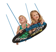 Load image into Gallery viewer, Kbt Kids' Oval Swing - Black & Blue