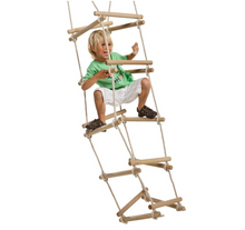 Load image into Gallery viewer, Kbt Kids Wooden Rung Four Sided Rope Ladder