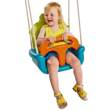 Load image into Gallery viewer, Kbt Baby Seat Growing Type Swing - Orange  Lime & Turquoise