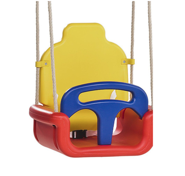 Kbt Baby Seat Growing Type Swing - Yellow  Blue & Red