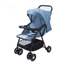 Load image into Gallery viewer, Lightweight Ultra Compact Stroller - Light Blue Denim