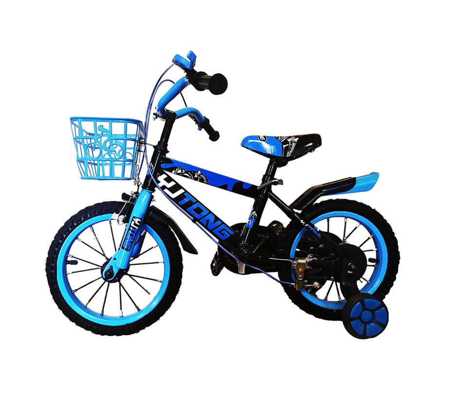 Kids 16 Inch Mountain Bike with Training Wheels - MTB Blue