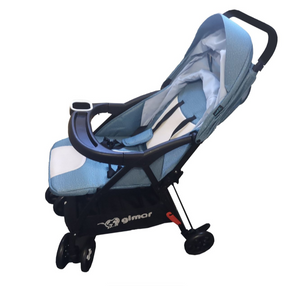 Lightweight Ultra Compact Stroller - Light Blue Denim