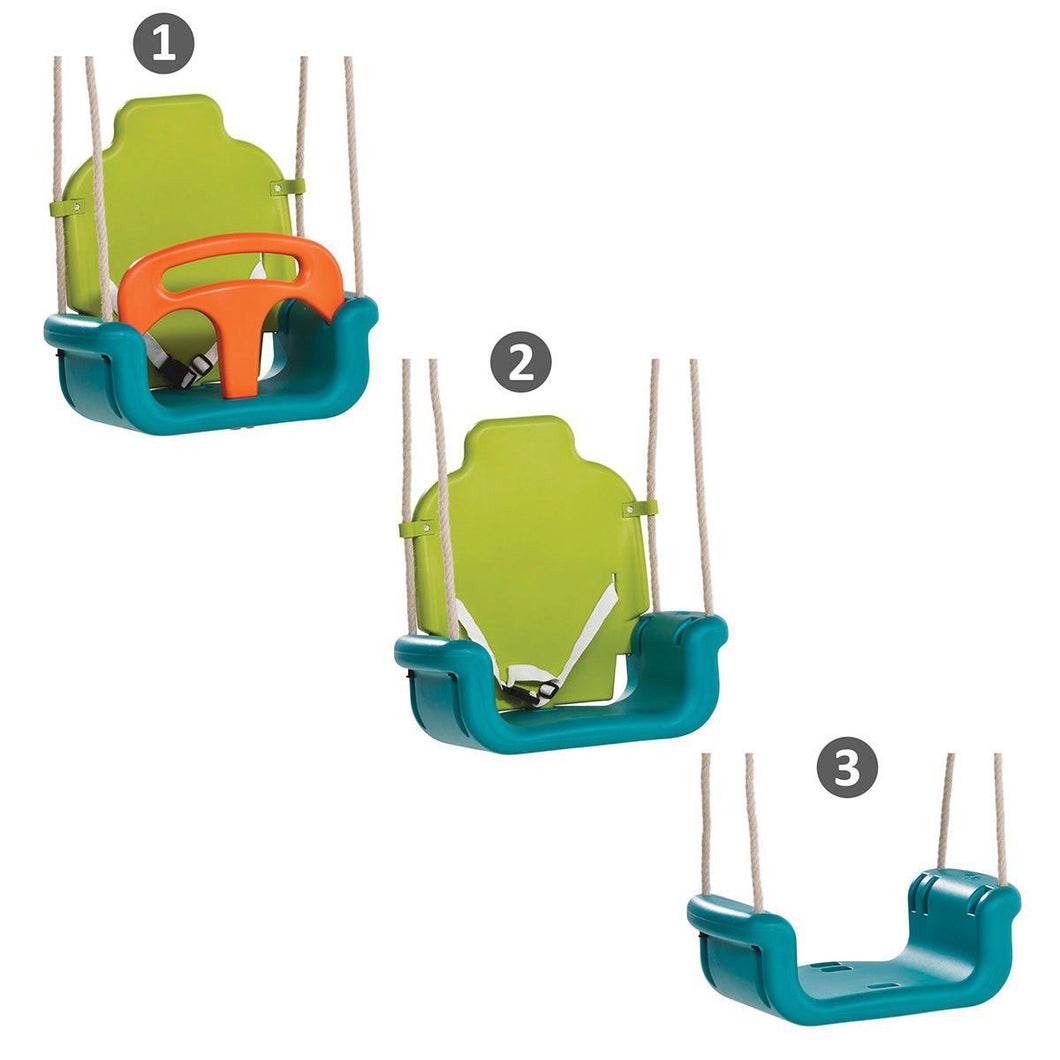 Kbt Baby Seat Growing Type Swing - Orange  Lime & Turquoise