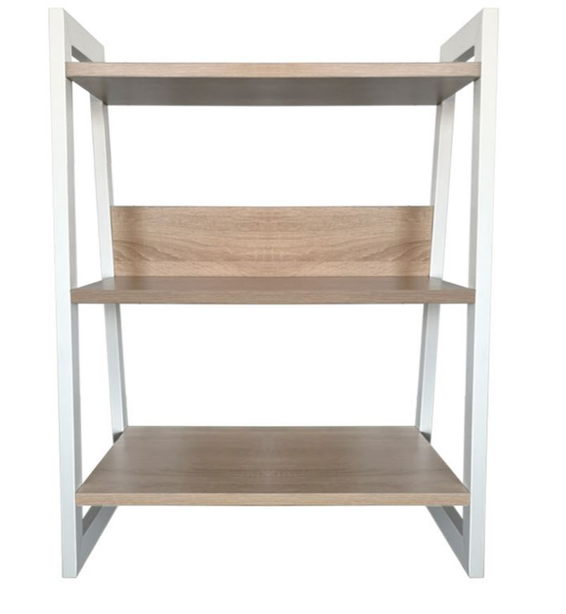 3-Tier Industrial-Style Bookcase Free Standing Bookshelf Display Unit