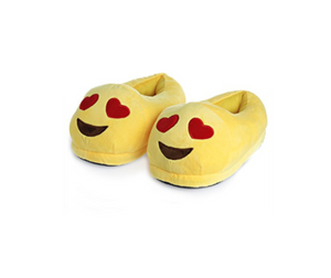 Heart Eyes Emoji Slippers Small Size 1 to 3
