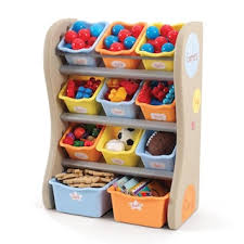 Step 2 Fun Time Room Organiser for Kids Storage in Tropical Colours