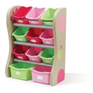 Step 2 Fun Time Room Organiser for Kids Storage - Pink