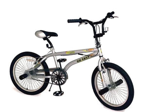"Go Easy 20"" Freestyle Stunt Bicycle Motocross - Silver"