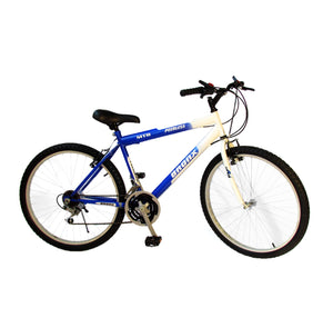 "White and Blue Bronx 26"" Road Bike 21 Friction Gear System"