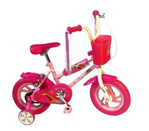 "Peerless Girls 12"" Bike with Training Wheels - Pink Princess"