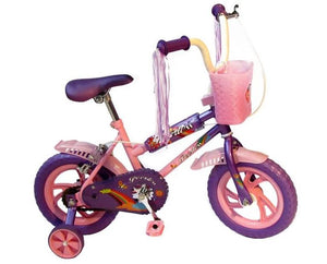 "Peerless 12"" BMX Bike with Training Wheels - Mauve & Pink"
