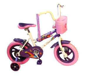 Peerless 12` BMX Bike with Training Wheels - Lilac & Pink