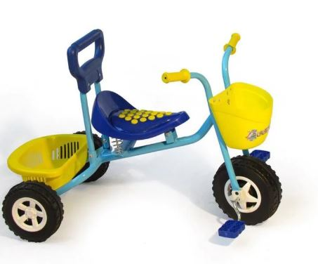 Kids Trike with Basket - Blue