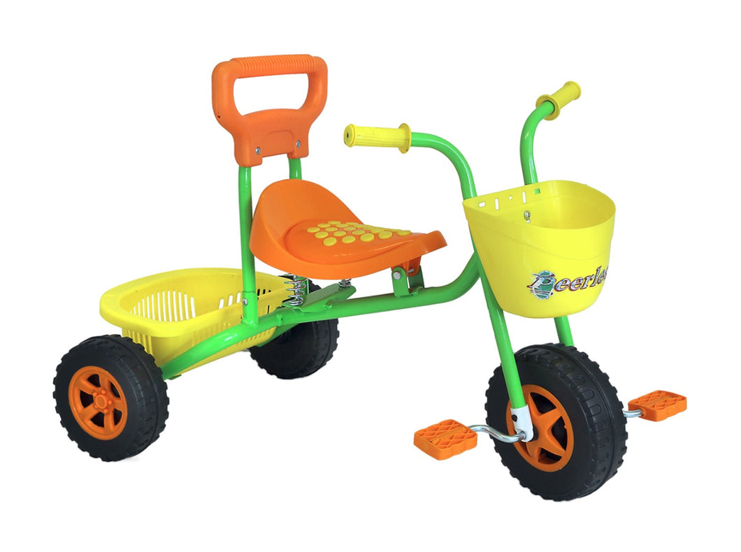 Kids Trike with Basket - Orange and Green