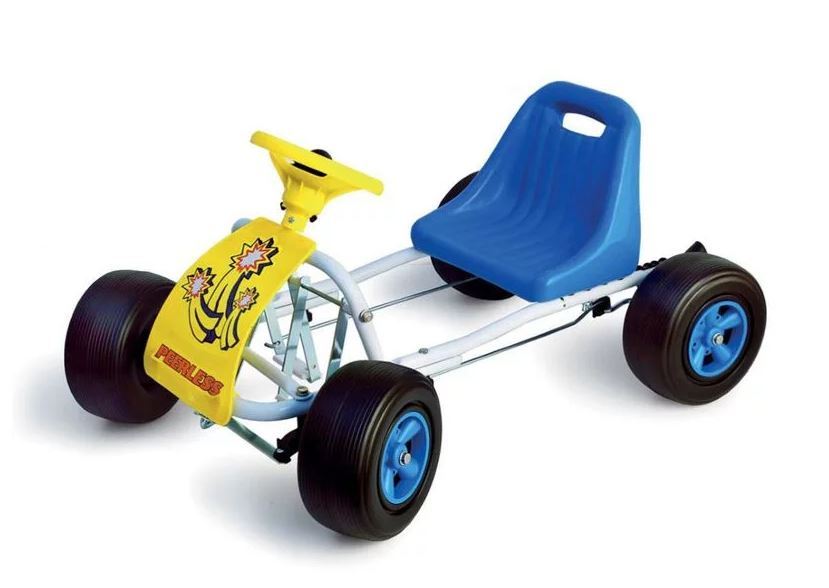 Kids Pedal Powered Go Kart - Blue