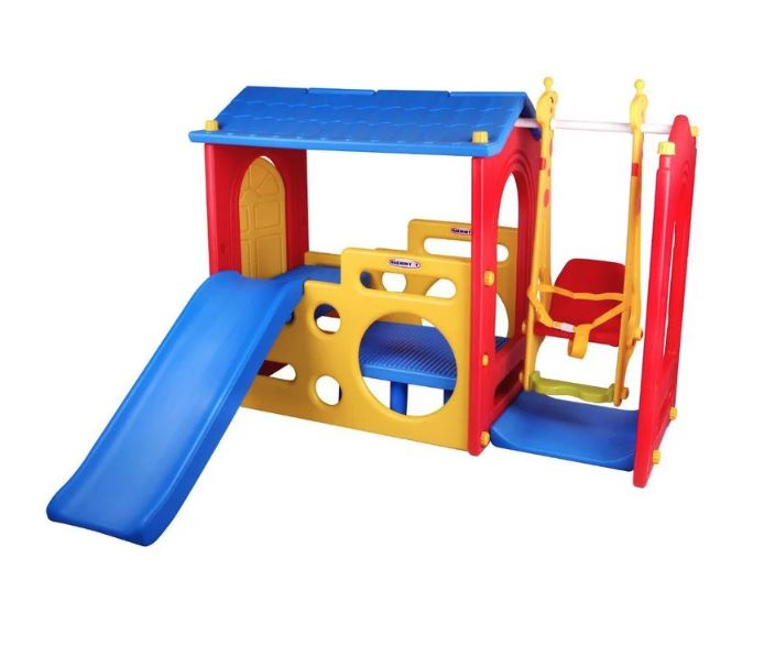 Super Playhouse Kids Jungle Gym Slide & Swing