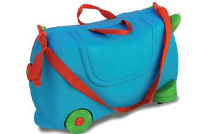 Kids Ride On Luggage Travel Toy Suitcase - Blue