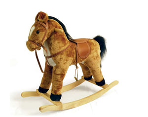 Kids Rocking Horse Pony Animal Toy - Brown