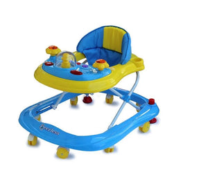 Little Steps Adjustable Baby Walker - Blue and Yellow