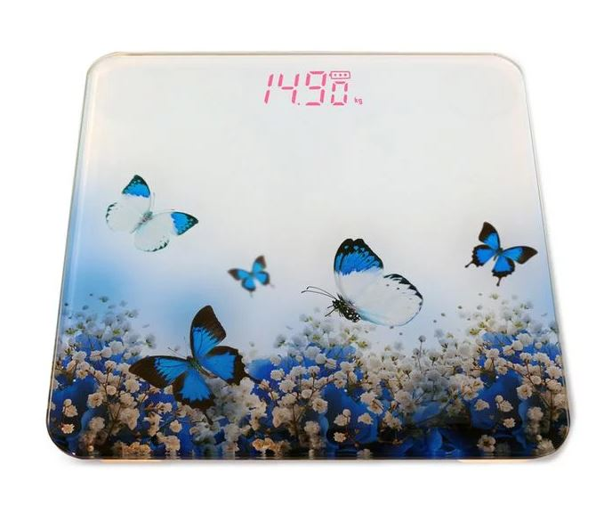 Butterfly Picture Digital Bathroom Scale with LCD Display