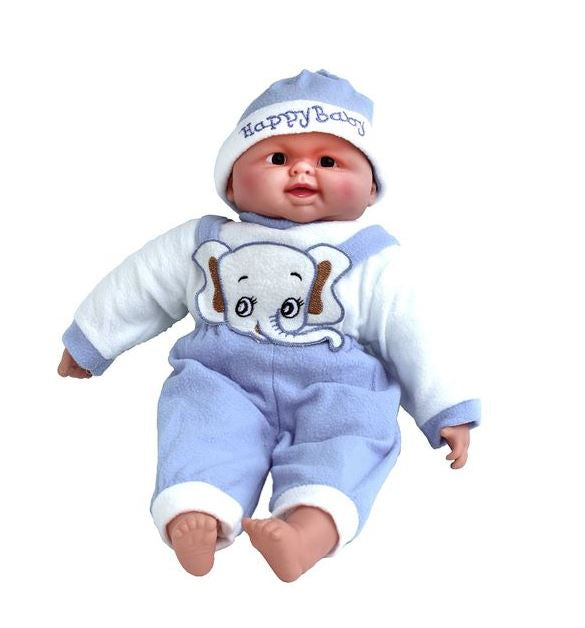 Large Gorgeous Soft-Belly My First Baby Doll - Blue